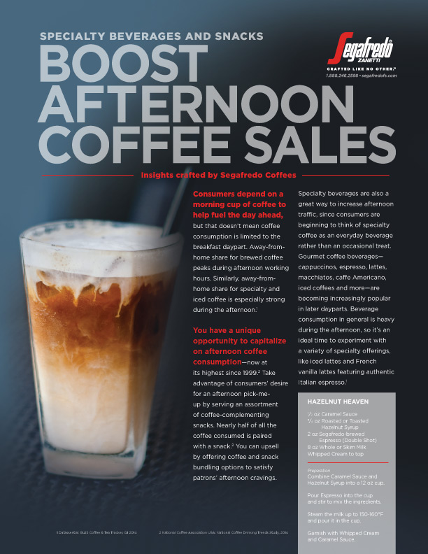 article on afternoon coffee consumption